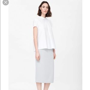 COS short sleeves shirt with pleated back